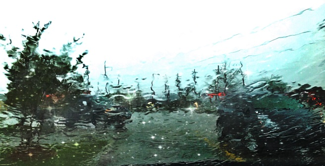 rainy windshield image