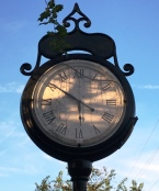 Train depot clock image