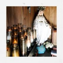 Statue and candle image