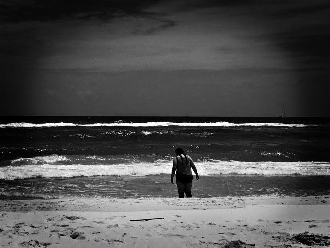 beach solitude image