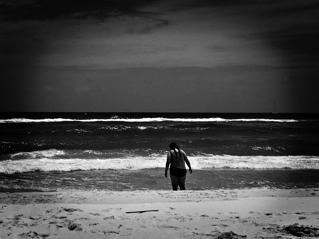 beach solitude image