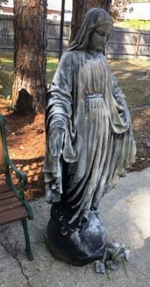 Statue damage