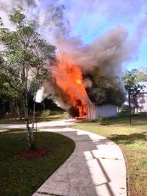 Candle Building burning image