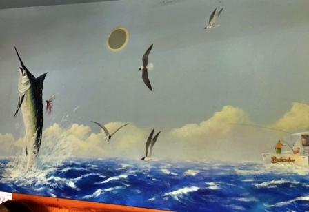 Southside Café beach mural image